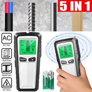 5 in1 Wall Wood Stud Detector Finder Scanner Metal Wire Cable Pipe Tester Meter