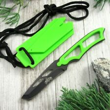 Fixed-Blade Neck Knife | Tactical Green Zombie Tanto Black Blade Full Tang