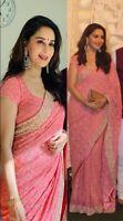 Saree Indian Sari Designer Bollywood Wear Blouse Pakistani Wedding Party New Sc