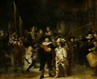 """REMBRANDT Art Poster or Canvas Print """"The Nightwatch"""""""