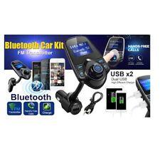 TRASMETTITORE FM BLUETOOTH AUTO VIVAVOCE USB MP3 RADIO CARICATORE ADATTATORE