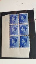 KING EDWARD VIII 2 1/2d Blue BLOCK OF SIX CONTROL A36 2 No dot .Mint