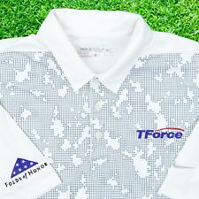 Nike Golf Men Medium Folds of Honor TForce Logistics Polo Shirt White Geometric