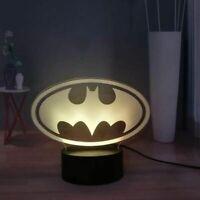 Batman Logo Illusion LED Lamp, 3D Light Experience - 7 Colors Options