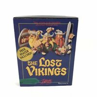 """The Lost Vikings IBM PC Game Vintage 1993 With Manual NO POSTER 3.5"""" Floppy"""
