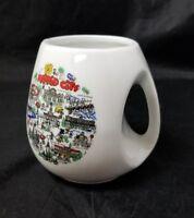 Madrid City Coffee Mug Tea Cup, White Attractions Spain Modern Design Handle