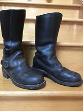 7 1/2 EE Chippewa Rally Engineer Boot Measures Men's 27862 USA Black