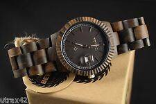 Women's Casual Wooden Watch Brown Sandal Wood Round Face With Date - By Bewell