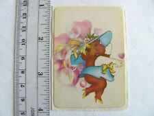 Large Vintage Acard Stickermania Fancy Dress Up Teddy Bear Glossy Sticker