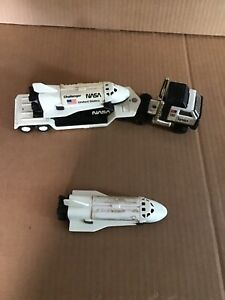 Vintage 1980 Buddy L NASA Challenger Space Shuttle Mack Truck 3 Pc. Set +1pc.xtr