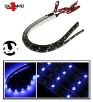 "4 X 30 cm 11"" 15 Led 3528 Smd Blue Flexible Drl Strip Light Waterproof Car Decor"