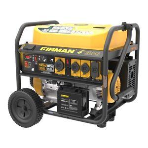 P08004- 8000/10,000w Refurbished Firman Dual Fuel Generator, electric start