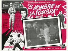 """""""LE SALAIRE DU DIABLE (MAN IN THE SHADOW)"""" Affiche originale mexicaine entoilée"""