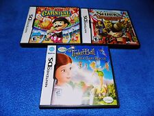 3X Shrek's Carnival Craze Party,NEW CARNIVAL,TINKERBELL FAIRY RESCUE Nintendo DS