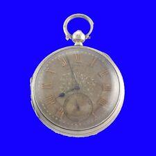 Reloj de bolsillo Plata sustancial fusee Kw John Forrest Plata Y Oro Marcado 1886