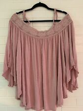 Almost Famous, Light Purple Top, Bell Sleeve, 2X