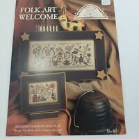 Homespun Elegance FOLK ART WELCOME 2 Cross Stitch Charts Leaflet Seasons 161