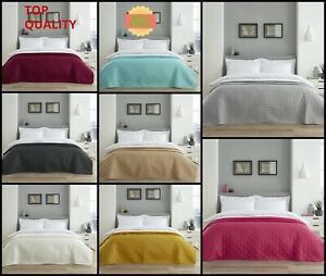 Luxury Large Quilted Bedspread Throw Comforter Bedding Large Sofa Cover Size
