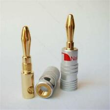 1Pcs Nakamichi 24K Gold Plated Speaker Cable Wire Connector 4mm Banana Plug SZ