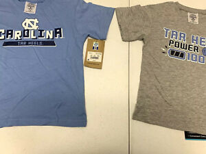 Set of 2 North Carolina Tar Heels  T-Shirt Toddler Size 3T