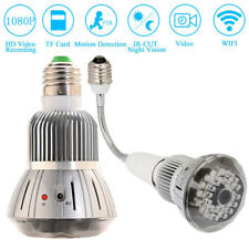 HD 1080P SPY Wifi Camera E27 LED Lamp Security Camcorder Motion Detection Bulb L