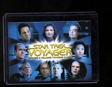 Star Trek Voyager Heroes and Villains CT1 case Topper card