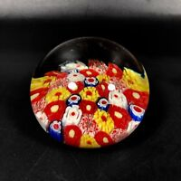 Vintage Art Glass Millefiori Cane Paperweight #3 ~ Eames Modern Murano