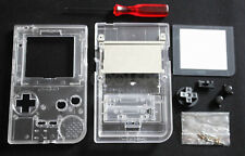 Game Boy Pocket GBP Complete Transparent Clear Housing Shell Kit - UK Dispatch