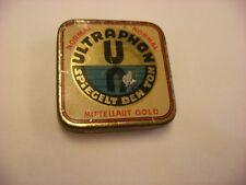 Phonograph Victrola Gramophone Needle Tin - Ultraphone - Mittellaut Gold - Empty
