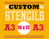 custom word stencil personalised A3 size