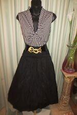 VINTAGE Style 50'S ~ TOP/SKIRT/Belt SET * Size  16 * ROCKABILLY *