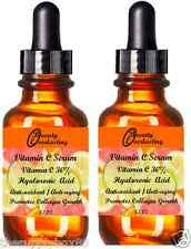 2 Bottles of 1.2 oz Vitamin C Serum 30% DOUBLE STRENGTH 100% Hyaluronic Acid