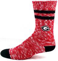Georgia Bulldogs NCAA Alpine Red and Black Crew Socks