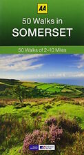AA ___ AA 50 WALKS IN SOMERSET ____ 2017 REPRINT ___ BRAND NEW ___ FREEPOST UK