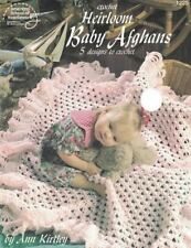 Heirloom Baby Afghans to Crochet 5 Designs ASN Booklet 1225 Ann Kirtley 1996