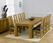 Provence Oak Furniture Extra Large Dining Table With 12 John Louis Cream Chairs