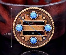 """10X Turquoise Cowboy Western Saddle Tack DIY Leather Belt Slotted Concho 1-1/2"""""""