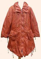 Lagenlook Padded Parka Coat Orange Plus Size 22-24+