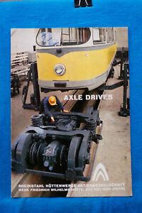 Axle Drives - Rheinstahl Huttenwerke - 5 pages - Circa 1970