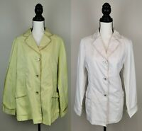 Women Blazer Jacket Causal Coat Long Sleeve Oversize Waterproof Top Size M-3XL
