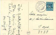 "FINNLAND 1944 3.50 M. Militärpostmarke als EF Pra.-Feldpostkarte aus ""ALAJÄRVI"""