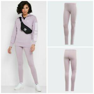 adidas Women's Originals Trefoil Leggings: Light Pink/Purple - ED7491 XS