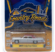 1:64 GreenLight *COUNTRY ROADS R13* Silver 1977 Dodge Royal Monaco Sedan *NIP*