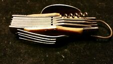 vintage/antique BONE ? FOLDING SPOON/FORK plus POCKET KNIFE