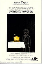 Catalogue Vente Art Tableau Contemporain Hongrois Hongrie Hungarian Hungary 1991