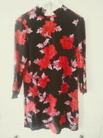 ZARA floral tea Mini Tunic Shift party holiday evening  Dress Size M 12 14 top
