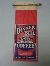 Vintage Collectible Coffee Bag Advertising Dinner Bell Brand
