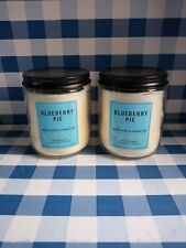 Bath And Body Works ~ BLUEBERRY PIE ~  7 Oz. Candle    X2