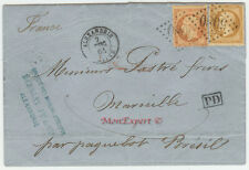 France Cover 1864 Alexandria to Marseille - Steamer