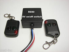 MSD 9V DC on/off relay contact switch with 2 wireless remote key fobs RS90